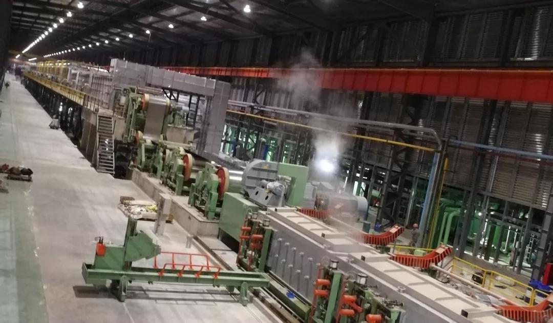 阳江竞博电竞怎么样首期年产70万吨四连轧连退生产机组稳定试产