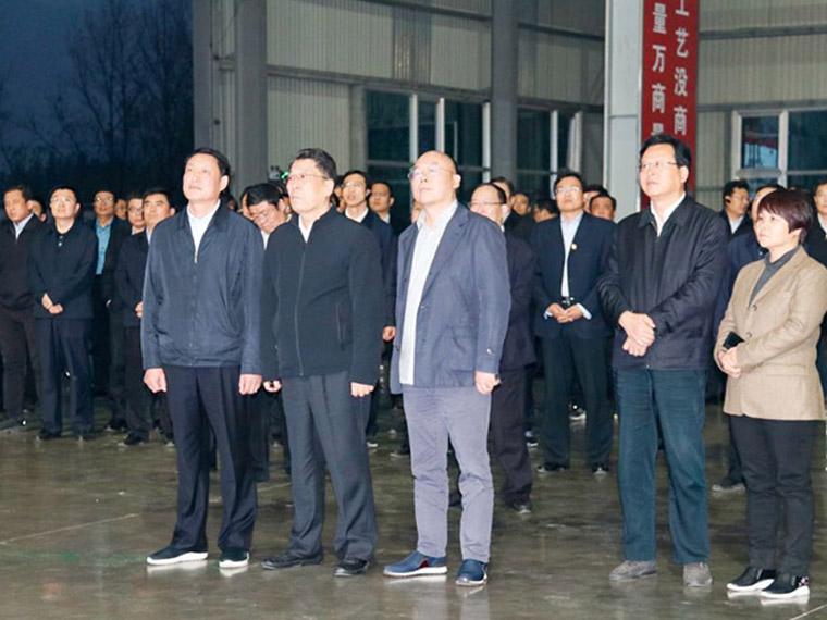 2019年11月,临沂市委书记王玉君一行莅临山东亚博全站不锈钢精加工项目考察、调研