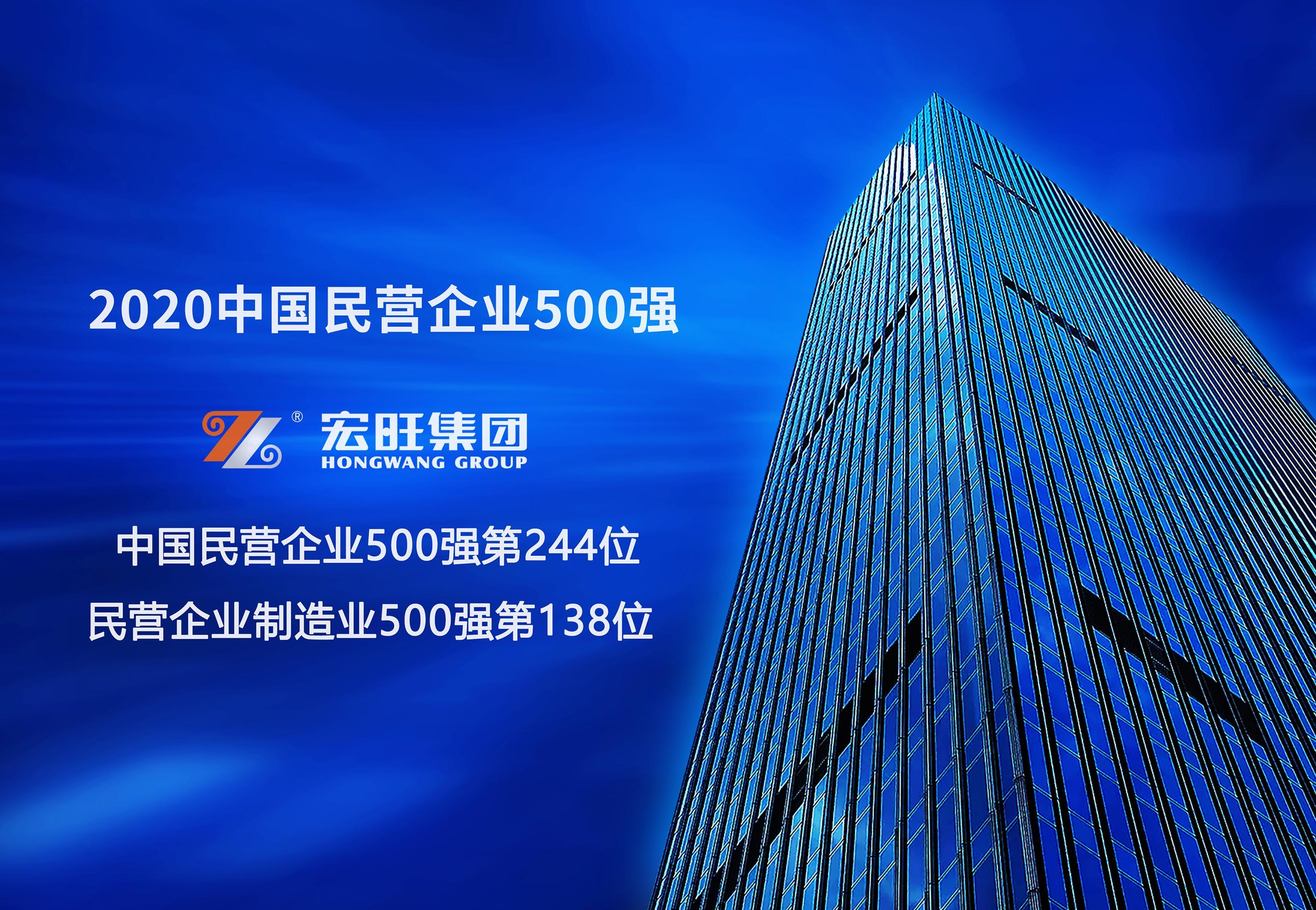 亚博全站集团位列2020年中国民营企业500强第244位