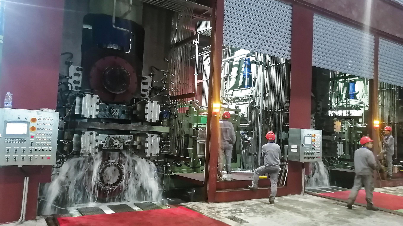阳江亚博全站年产50万吨三机架连轧连退酸洗联合机组顺利试产