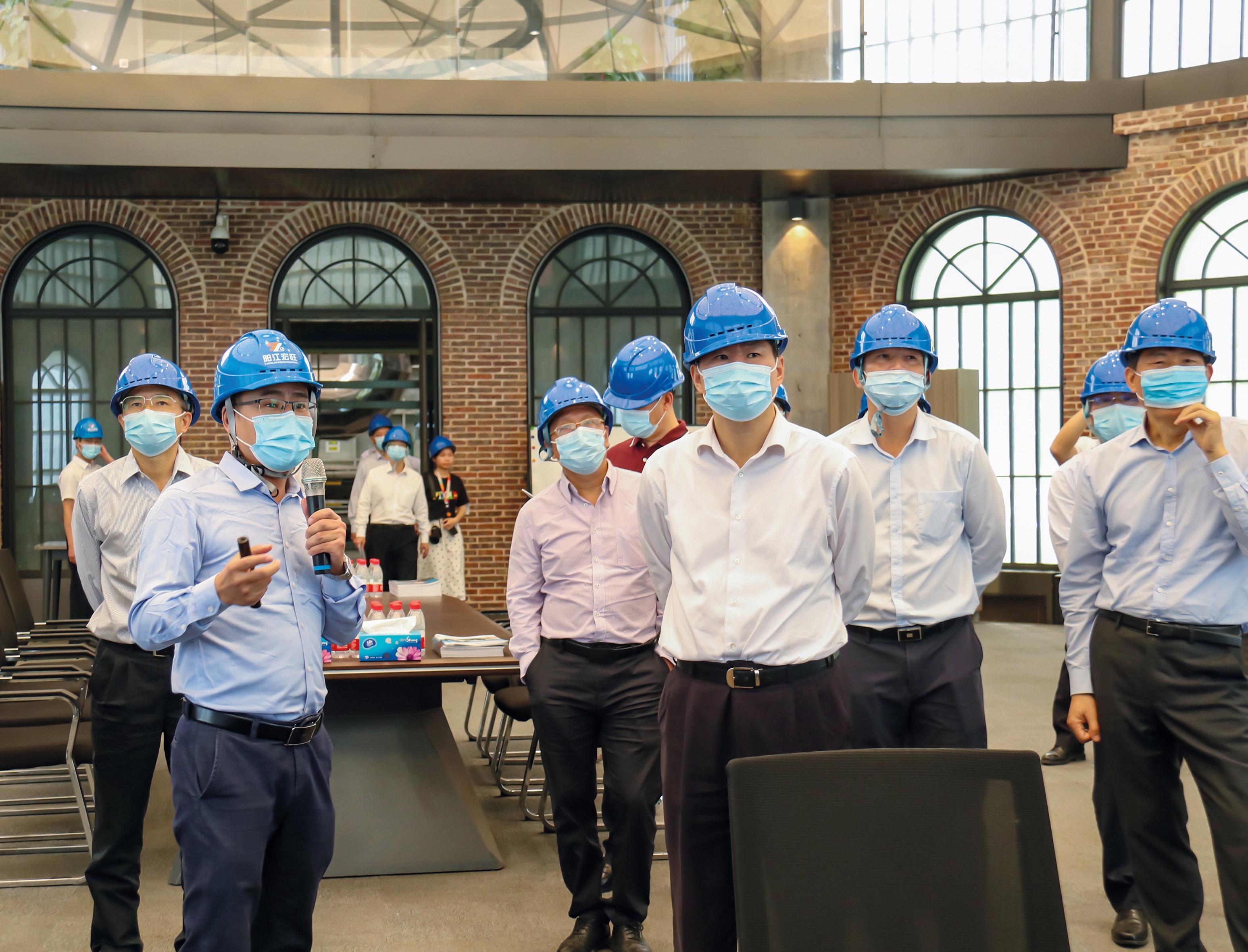 广东省产业园高质量发展工作现场会领导莅临阳江亚博全站考察